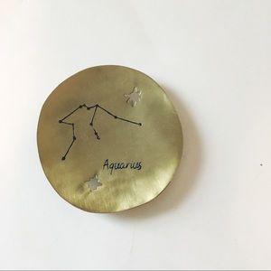 Anthropologie • Aquarius zodiac trinket dish brass